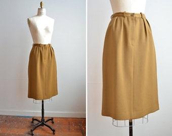 SALE / Vintage 1980s ESCADA wool pencil skirt