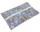 Purse Tissue Holder, Blue Swirls, Kleenex Holder, Travel Tissue Cozy, Pocket Tissue Holder