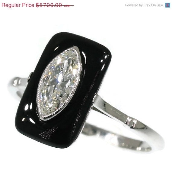 FOR SALE Marquise Diamond Engagement Ring by adinantiquejewellery