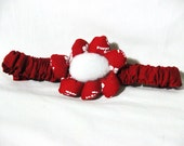 Red Flower Band for Dogs