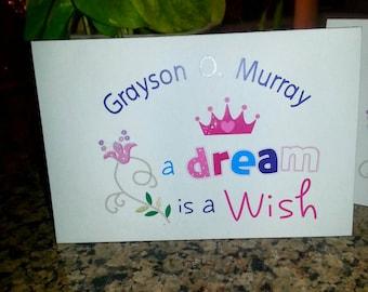Little Girls Princess Thank You Cards