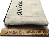 Zodiac Sign - Aries - Pencil Case - Zipper Pouch - April Gift - Notebook Paper Fabric - Makeup Bag - Handmade