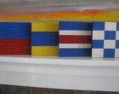 One Nautical Signal Flag Sign---Weddings--Birthdays---Room Decor
