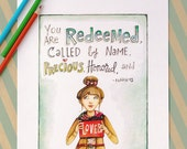 Fine Art Print 8x10 - You Are Redeemed