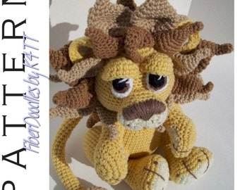 INSTANT DOWNLOAD : Maximus the Amigurumi Lion Crochet Pattern