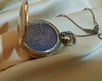 1808 Coin from Ship wreck in pocket watch case Necklace