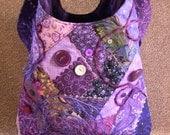 Charming Purple Patchwork Shoulder Bag