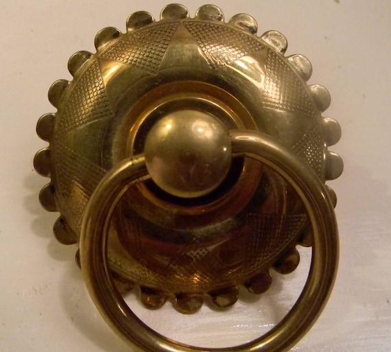 Large Brass Drawer Ring Pull Round Hardware