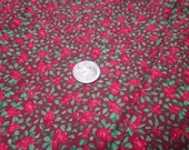 4 1/2 yards of destash holly print cotton
