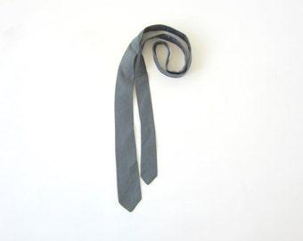 Vintage Skinny Tie, Mid Century Tie, blue green necktie, vintage necktie, abstract tie