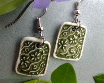 Tiny Tile Earrings