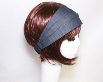 Denim Headband, Turban Headband, Denim Turban Headband, Wide Headband, Head wrap, Denim Turban, SALE Headband