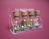 Tiny trees with a couple & family in four seasons in a tiny bottle  ver.2