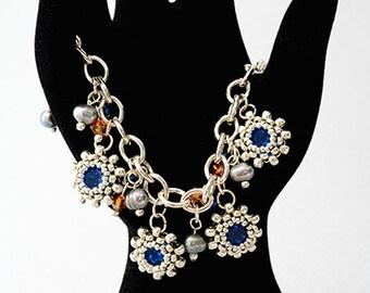 Chain Reaction Bracelet Blue