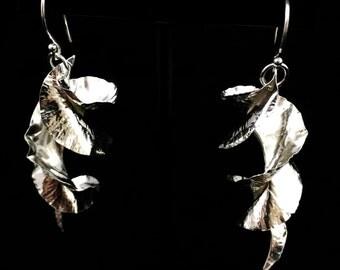Fold Formed Sterling Silver Earrings