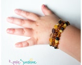 Amber Teething Bracelet - Raw Baltic Amber Bracelet for Babies and Toddlers