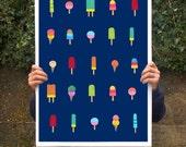 "Ice Cream Heaven - Poster print  20""x27"" - archival fine art giclée print"