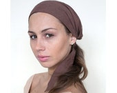 Headscarf, Brown Head Scarves, Hair Covering, Turban Head Wrap, Womens headscarves, Head Scarf, Gift for Her