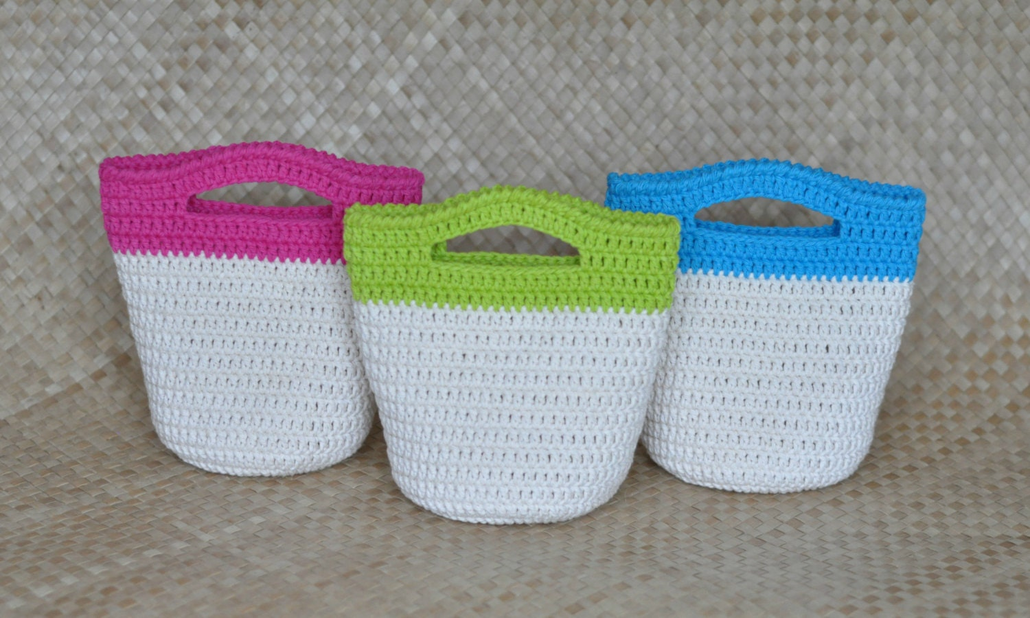Mini Crochet Bag : PDF Haleiwa Mini Gift Bag Crochet Pattern by IslandStyleCrochet