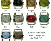 Rounded Watch Face for Interchangeable Watch Bracelet