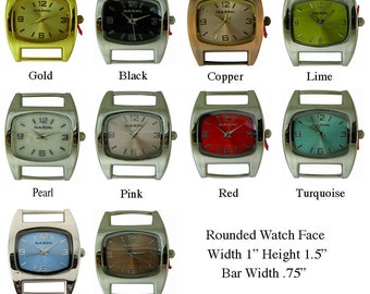 Rounded Solid Bar Watch Face for Interchangeable Watch Bracelet