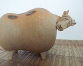 Mid Century Modern Stig Lindberg Lisa Larson Style Japanese Pottery Bull