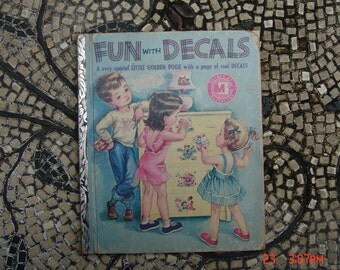 Fun with Decals - a little Golden Book 1952 - 1st Edition - Sweet