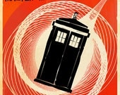 TARDIS Doctor Who Travel Poster Vintage Print Geekery Wall Art House Warming New Apartment