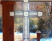 Devotion #2 - Large Stained Glass Cross / Crucifix / Suncatcher