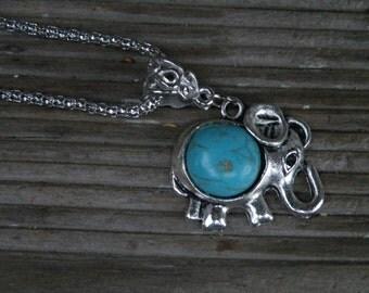 75% off enter LOVE2016. Elephant Necklace, Elephant Jewelry, Turquoise Elephant, Necklace, Turquoise Elephant Necklace