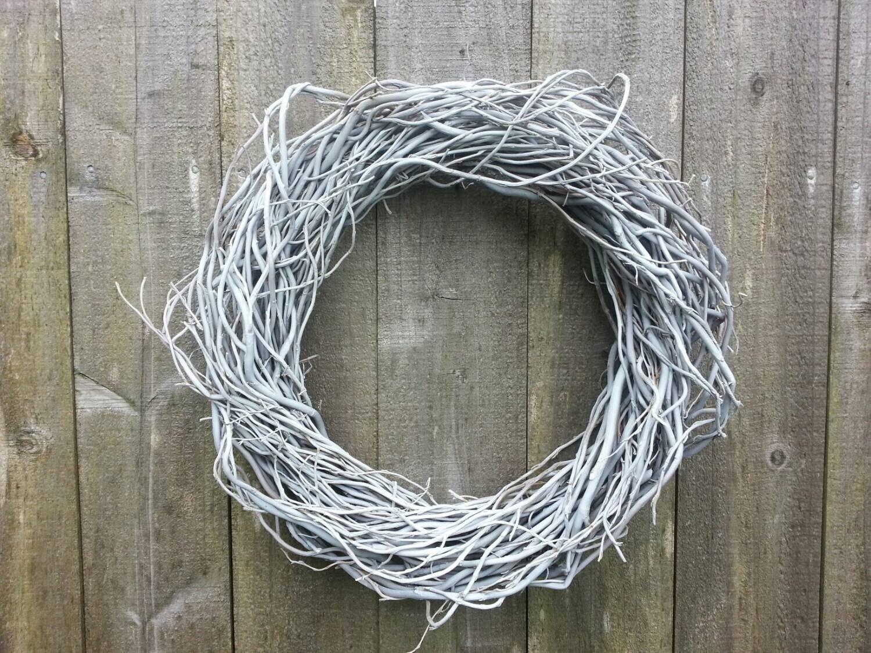 White Washed Twig Wreath Wedding Wreaths