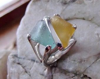 Sea Glass Beach Glass Ring