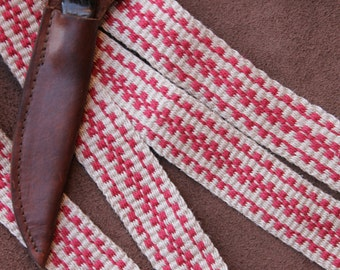 Handwoven Hemp Strap, Use with Canteen, Rifle, Powder Horn, Quiver, Costume