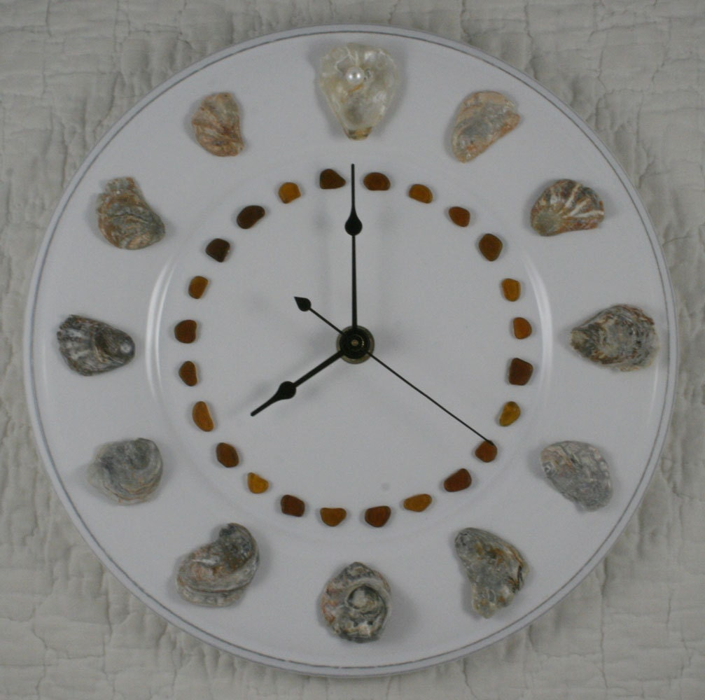 Oyster Shell Wall Clock Perdido Bay Oyster Shells