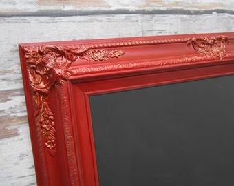 """LARGE FRAMED CHALKBOARD For Sale Tuscan Red 44""""x32"""" Framed  Magnetic Chalkboard Red Furniture Kitchen Blackboard Home Office Chalkboard"""