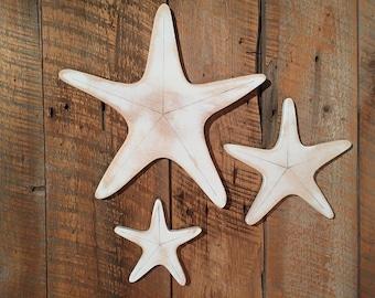 Set of 3 Star Fish - Indoor Ocean Beach Decoration