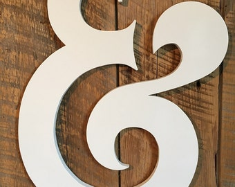 Wooden Ampersand Wedding Prop - & And