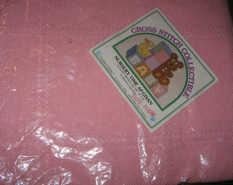 "PINK Charles Craft Nursery Time Baby Afghan 38"" x 38"""