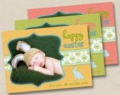 Happy Easter Custom Photo Card or Invitation or Birth Announcement Design