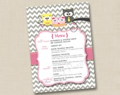 Coordinating Printable Menu 5x7 Digital Image for any Tints and Prints by Tierney card
