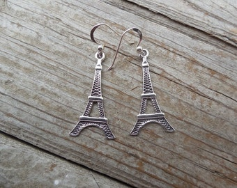 Eiffel tower earrings handmade in sterling silver 925