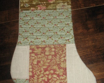 Traditional Floral Quilted Stocking