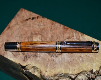 Stunning Majestic Rollerball Pen with Exotic Cocobola Wood    (932)