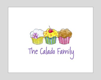 Cupcake Thank You Notes ~ Personalized Cupcake Stationery