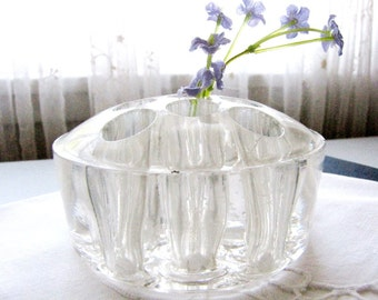 Flower Frog Glass Vintage 1930s from AllieEtCie.
