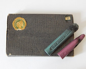 french sealing wax vintage box of sealing wax