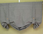 Relaxed Linen Pull-Up Shade---Linen London Shade---Linen Window Treatment for your Home-Nursery Window Treatment