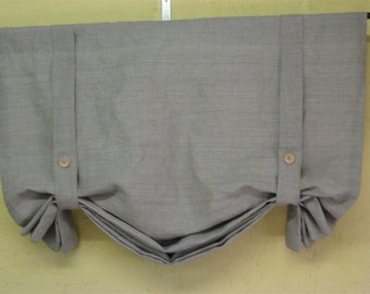 Non-Functional Linen Pull-Up Shade----Tailored Linen London Shade---Linen Window Treatment for your Home-Nursery Window Treatment
