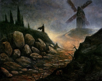 The mill - Oil painting