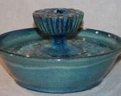 """Ceramic Cat Fountain / Indoor Fountain, Ceramic, Foodsafe  - 11.5 Inch Diameter -  """"Midnight Piazza"""""""